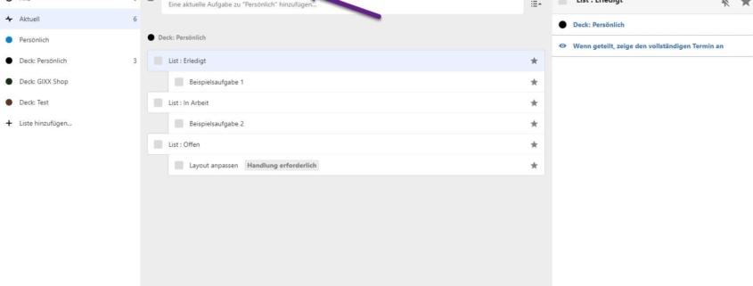 Nextcloud-Aufgabenverteilung