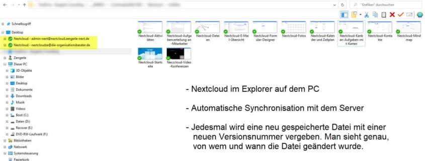 Nextcloud Ansichten